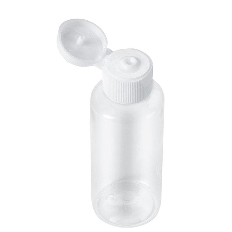 Flacon en plastique pour maquillage, bouteilles vides en plastique pour maquillage, Lotion, liquide et crème, bouchon à rabat, 10ml/30ml/50ml/60ml/100ml, 20 pièces