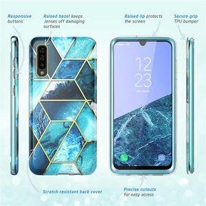 Image 5 - Per Samsung Galaxy A50/A50s Caso (2019) i Blason Cosmo Full Body Glitter Marmo Cassa Del Respingente con Built In Protezione Dello Schermo