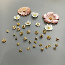 20Pcs/Pack 3/5mm Gold Sliver Color Flower Buds Jewelry For DIY Earrings Brooch Beads Women Charm Making Accessories
