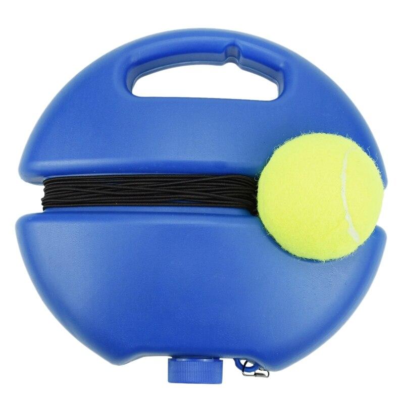 Super Sell-Single Line Tennis Rebound Rebound Training Trainer Tennis Training Aids Elastic Rope Ball Practice Set Beginner
