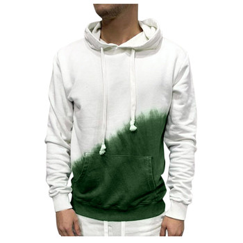 2021 New Men Autumn Winter Long Sleeve Printed Hooded T Shirt Top Tee Outwear Blouse Man Clothing Warm Men's Top Sweatshirt 1