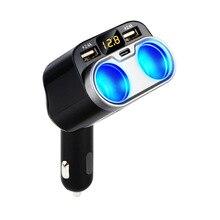 C47 Sạc Xe Hơi Cao Cấp 1 Thành 2 Thuốc Lá Bật Lửa Xe Sạc Loại C Dual USB Sạc Xe Hơi Dropshipping