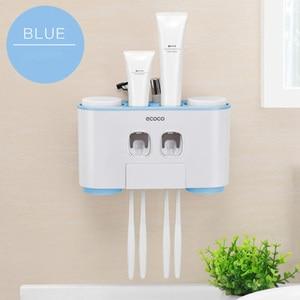 Image 5 - LEDFRE plastik otomatik diş macunu sıkacağı dağıtıcı seti duvara monte çocuklar eller çocuklar için ücretsiz banyo LF71001