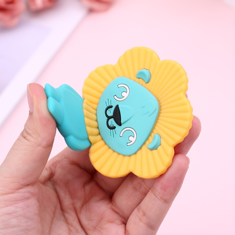 Baby Teether Cute Lion Toys Teething Care Newborn Chew Silicone BPA Free Pendant
