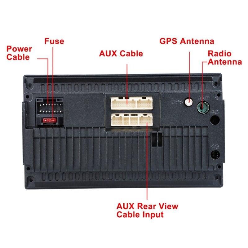 OPQ Новый Android 8,1 автомобильный радиоприемник Gps навигация 2 Din автомобильный радиоприемник 7 дюймов Автомобильный Mp5 мультимедийный плеер Wifi FM... - 5