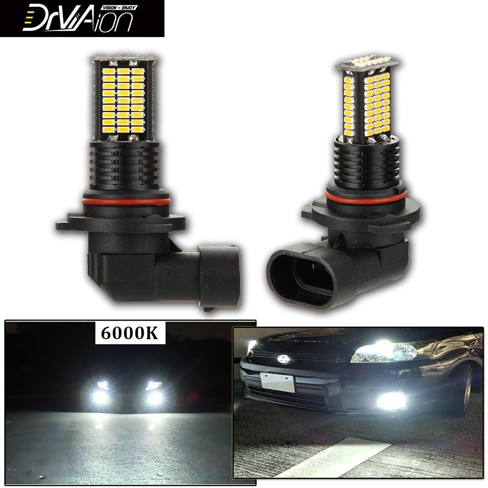2Pcs 9Lines Chips 3200LM H7 H8 H10 H11 LED Fog Light Bulbs For Car 9005 HB3 9006 HB4 LED Headlight 6000K White Auto Car Lamp 12V