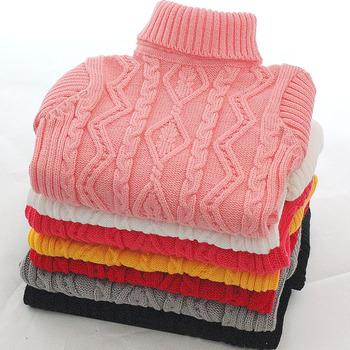 Nowy 2019 dzieci dziecko swetry dla chłopców i dziewcząt blok chłopców swetry zimowe dziewczyny swetry dzianiny dzieci swetry nastoletnich chłopców odzież tanie i dobre opinie Akrylowe COTTON Na co dzień Stałe REGULAR Golfem Unisex Pełna Na krzyż Pasuje prawda na wymiar weź swój normalny rozmiar
