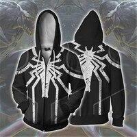 Venom Spiderman Print 2019 Off White Hoodies 3D Men Women Sweatshirt Cute Hoodie Superhero Streetwear Hoody