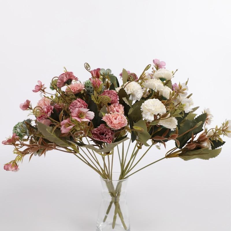 1 букет хризантем искусственный цветок домашний декор свадебное украшение подарок diy реквизит для фотосессии мебель для гостиной