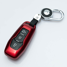 Key case for car For Ford Mondeo Mk4 MK3 MK5 Ranger S C Max Explorer 5 Fiesta ST F15 paint car accessories car styling keyring