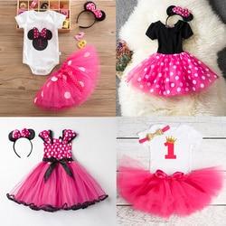 Летняя одежда для маленьких девочек, платье для новорожденных принцесс из тюля на 1 год, вечерние рождения, платья для девочек, одежда для мл...