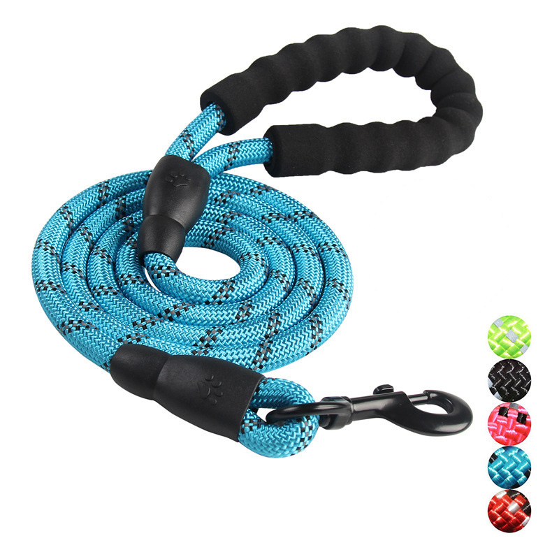 Reflective Durable Large Dog Leash Training Running Rope Medium Big Dog Collar Leashes Strong Lead Rope For Labrador Rottweiler