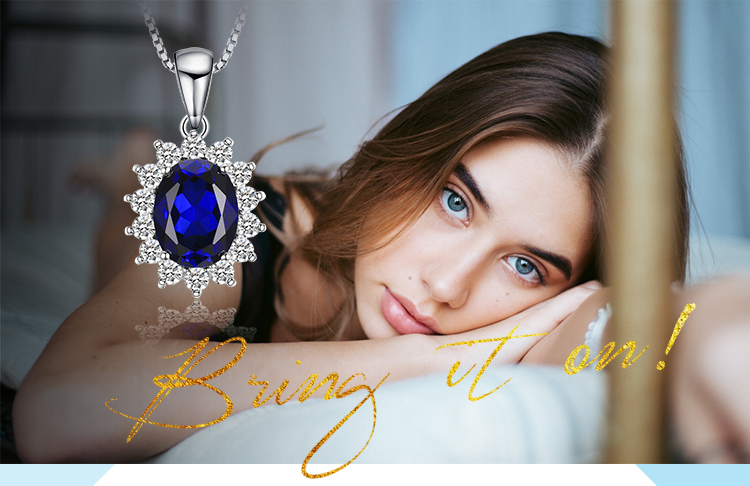 H9c54adfde0414e14a6ca9e6751c1867e3 JewelryPalace Created Sapphire Pendant Necklace 925 Sterling Silver Gemstones Choker Statement Necklace Women Without Chain