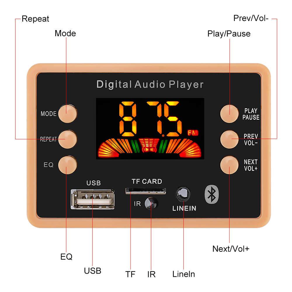 AIYIMA Bluetooth 5.0 odtwarzacz MP3 dekoder audio kolorowy ekran Radio FM USB MMC SD moduł dekodujący karty MMA DIY wzmacniacz