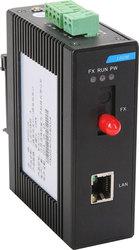 Rail Type 10 / 100M 100M Industrial Fiber Optic Transceiver 1 Optical 1 Electric Single Fiber 20 Km FC / SC / ST