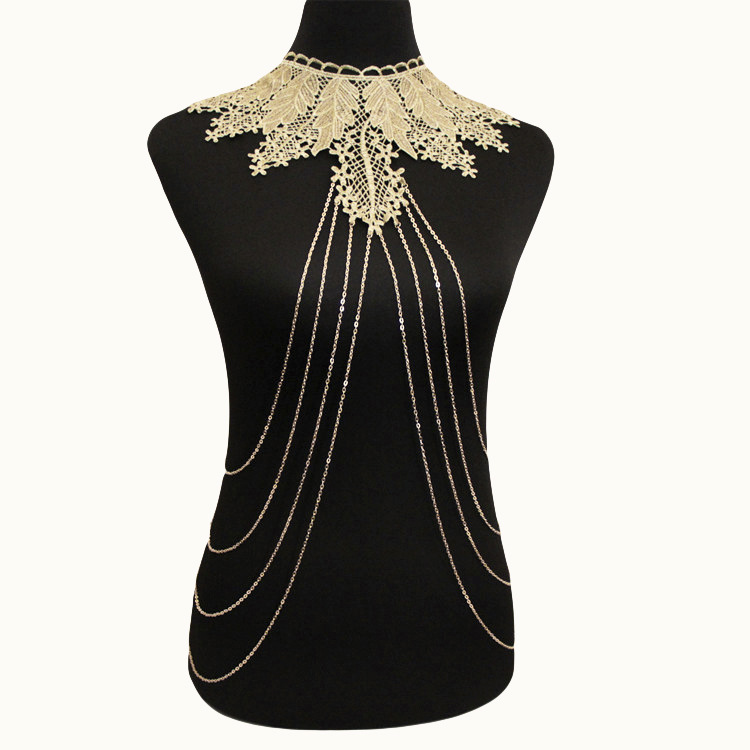 2019 New Fashion Lace Detachable Collar Clavicle Necklace Diy