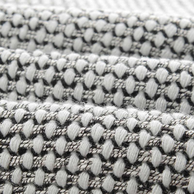 Женский кардиган размера плюс в черно-белую полоску с карманами, свитер, пальто, свободная уличная одежда с длинным рукавом, вязаный Топ, повседневный макси