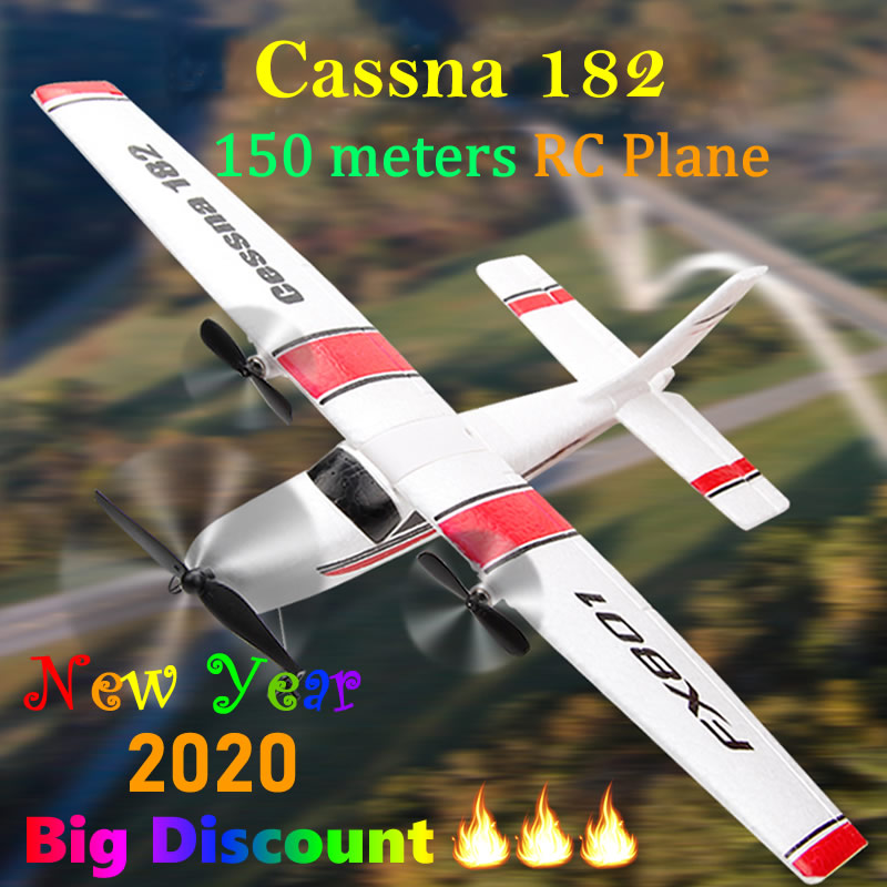 Beginner Electric RC Airplane RTF Epp Foam Remote Control Glider Plane Kit Cassna 182 Aircraf More Battery Increase Fly Time(China)