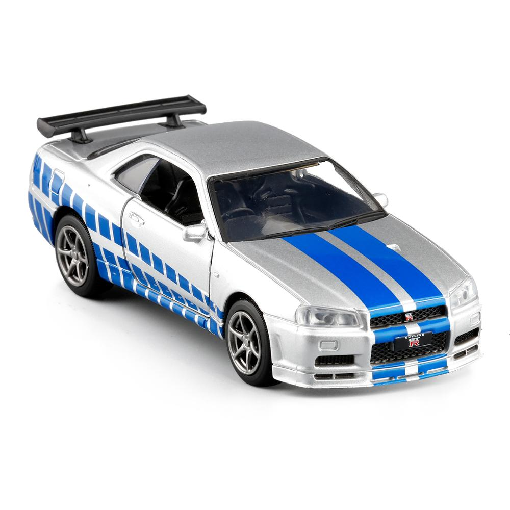 ALI shop ...  ... 4000344037233 ... 4 ... High quality 1:36 Nissan GT-R R34 sports car alloy model,simulated metal pull back model toys,children's gifts,free shipping ...