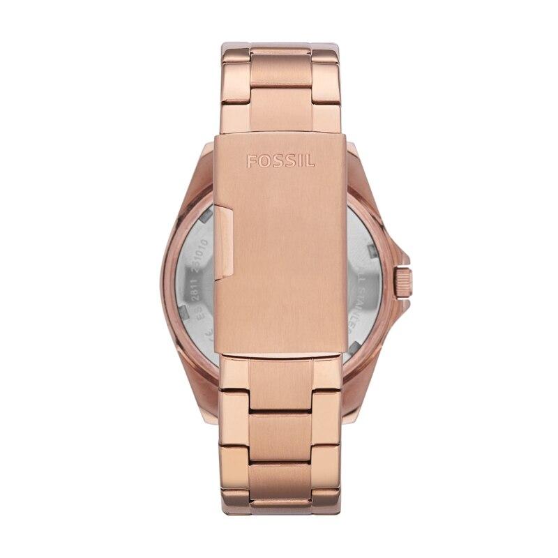Fossil часы для женщин Riley многофункциональные розовые часы из нержавеющей стали Роскошные Кварцевые наручные часы для женщин ES2811 - 2