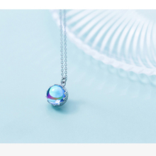 Women Crown Aurora Necklace Bohemia Pendant Necklace Halo Crystal Silver Scale Light Necklace For Women Elegant Jewelry Gift 925 equte elegant crystal dolphin pendant necklace for women silver pink