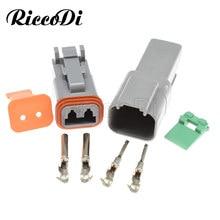 Deutsch DT 2 Pin 22-16AWG комплект 1-20 комплектов, водонепроницаемый Электрический провод, соединитель, разъем, для автомобиля, для автомобиля, с 2 конта...