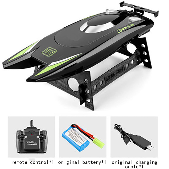 2021 NEW RC Boat 2.4G Remote Control Double Motor Waterproof USB Charging Double Helix Design Toys Gift For Children 4