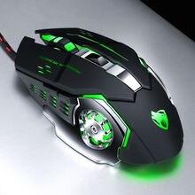 Thunder wolf v6 игровая мышь для макросъемки Механическая 2400dpi
