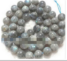 "+++819 natural labradorite round loose Beads 15"" 10mm(China)"