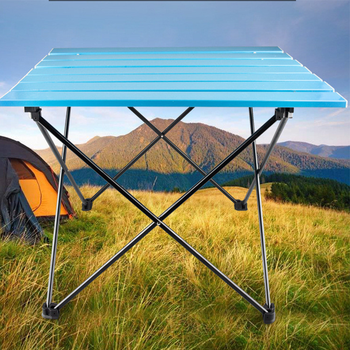 Portable Family Dinner Folding Table Camping Hiking trip Outdoor Picnic Fishing Outdoor Sports Table new alloy Ultra Lightweight