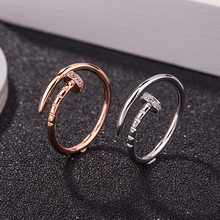 Screw Adjustable Ring New Fashion Boho Nail Ring Screw Couple Gift Party Engagement Rings for Women Valentine's Day Present