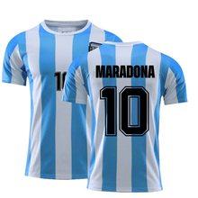 Camiseta de tamanho grande do vintage de maradona do verão 10 para homens e mujeres, partes superiores do estilo de fútbol naoli, 1986, 1987,1988