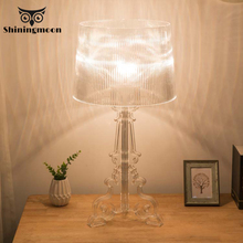 Clear Acrylic Bedside Table Lamps Living Room Home Deco Table Lights Modern Bedroom Makeup Bed Lamp Reading Learning Desk Lamp free shipping acrylic clear desk table mini acrylic lucite table