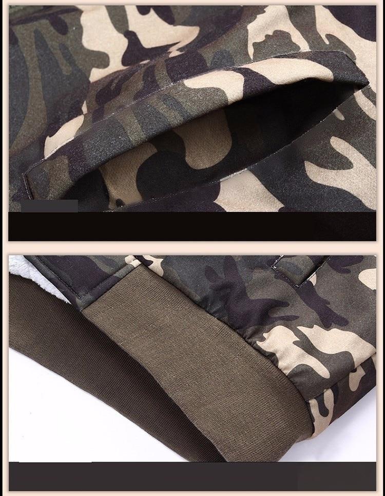 2019 зимняя мужская куртка с капюшоном, повседневные толстовки камуфляжной расцветки, мужская спортивная одежда, флисовая камуфляжная тепла... - 6