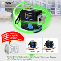 XEAST XE 68G Pro Laser Level 12 Lines 3D Level Self Leveling 360 Horizontal And Vertical Cross Super Powerful Red Laser Level