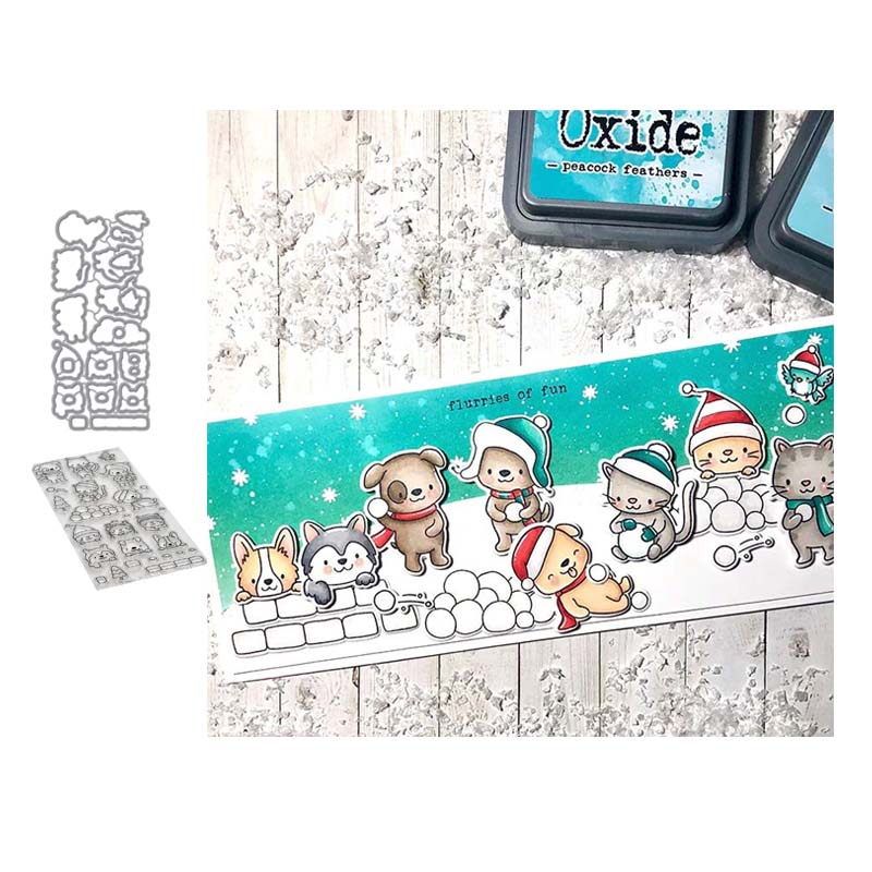 Santa Claus Animals Metal Cutting Dies Stencils for DIY Scrapbooking Stamps