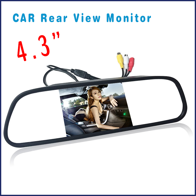 Car DVR Dual Lens Full HD  Dash Cam White Rearview Mirror Car Camera Video Recorder With Rear view DVR Auto Registrator DFDF|Car Monitors| |  - title=