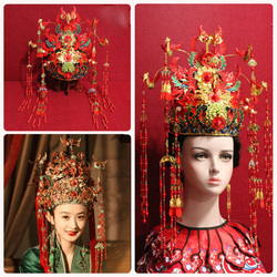 High Quality Delicate Empress Bride Wedding Hair Tiara for TV Play The Story of MingLan Zhao LiYing Ming Dynasty Hair Piece