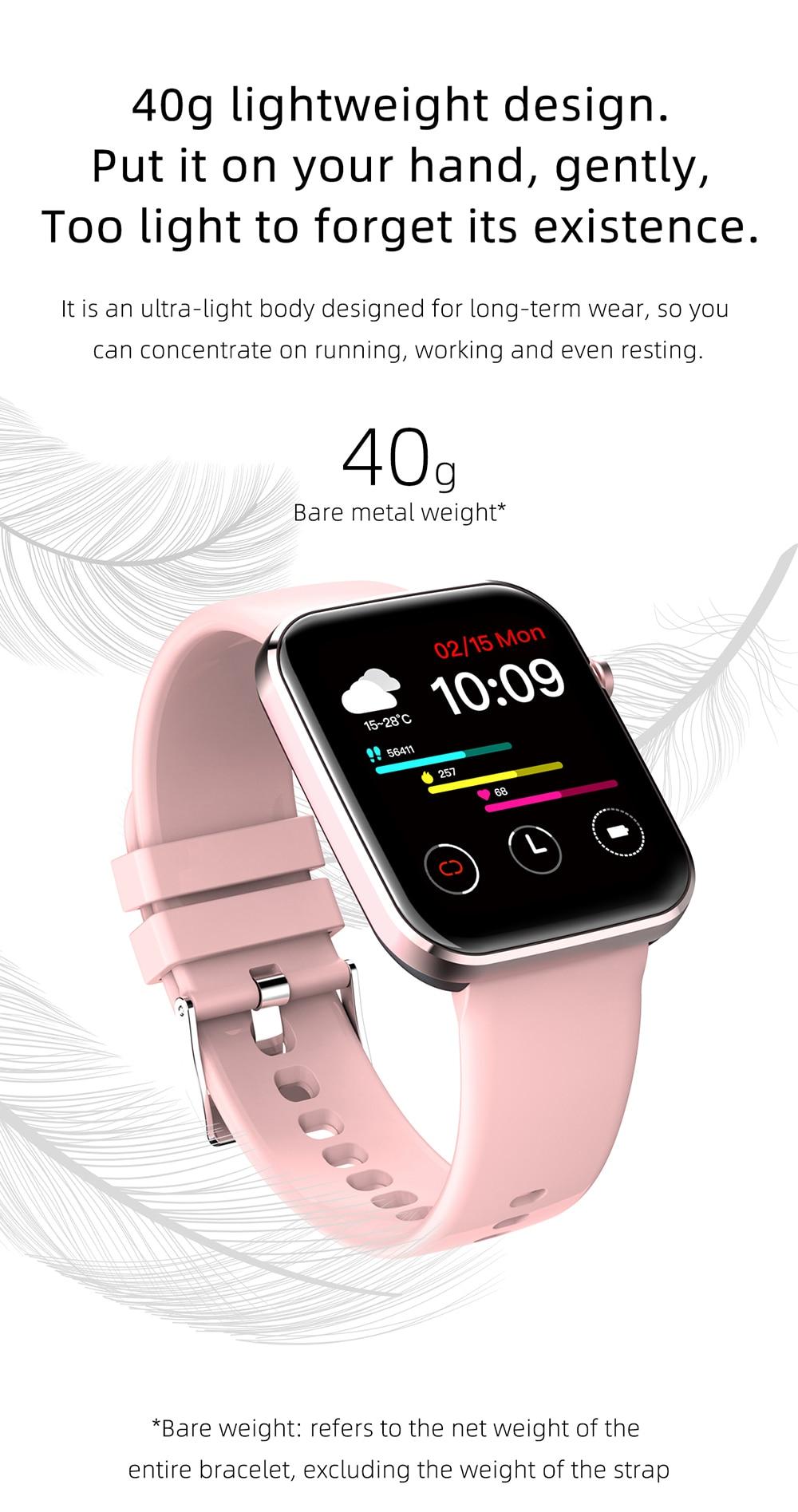 fitness rastreamento wmen smartwatch para ios android