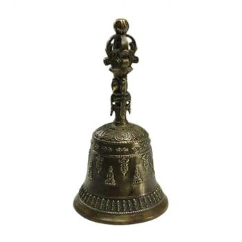 LAOJUNLU Imitation Antique Donkey Kong Pestle Hand Bell Pure Copper Ornaments Exorcism Protection Family Evil Decoration