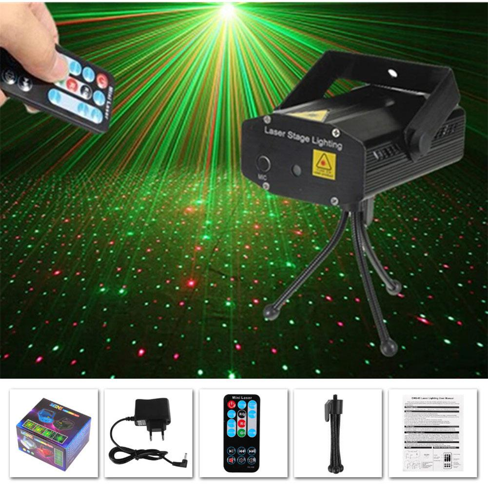 LED Projector With Remote Control Christmas Decorations Disco Light Light DJ Disco Xmas Party Club Light