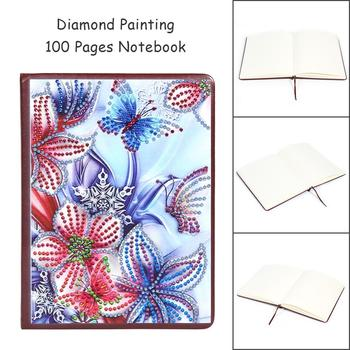 DIY No Cracks Splicing Flatness Diamond Painting 100 Pages without Lines Special Shaped Notebook Office Supplies Birthday Gifts image