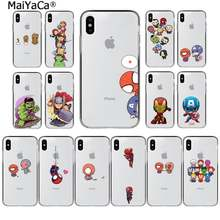 MaiYaCa Nette Marvel Avengers Spider-Man Captain America Telefon Abdeckung für iphone SE 2020 11 pro XS MAX 8 7 6 6S Plus X 5 5S SE XR(China)