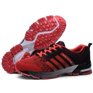 Image 5 - الرجال أحذية مفلكنة الرجال الصيف عادية للجنسين خفيفة الوزن تنفس شبكة موضة الذكور المشي حذاء رياضة Size35 47 كبير