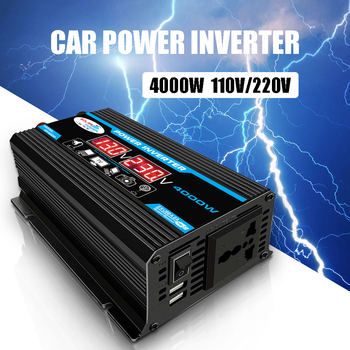 4000W LED Screen 500W 12V 220V 110V Inverter Car Power Adapter Modified Sine Wave Voltage Transformer 12V to 220V Inverter