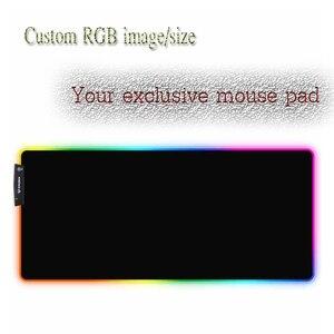Image 4 - Yuzuoan XXL لوحة ماوس أنينية ناروتو USB LED اللون الإضاءة قفل حافة سميكة RGB ماوس الوسادة سرعة التحكم ألعاب حصيرة لوحة المفاتيح
