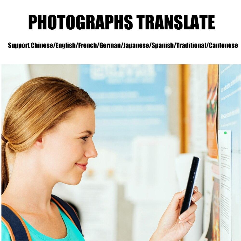 Image 5 - Tłumacz głosowy tłumaczenie zdjęć 82 języki AI inteligentny dialog ucz się języków obcych szybko tłumacz podróży czarnyTranslatory   -