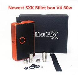 ¡Novedad! Caja de cigarrillo electrónico SXK Billet box V4 60w 60W, caja mod con puerto USB rev.4, kit de vaporizador de rosca 510, alta calidad