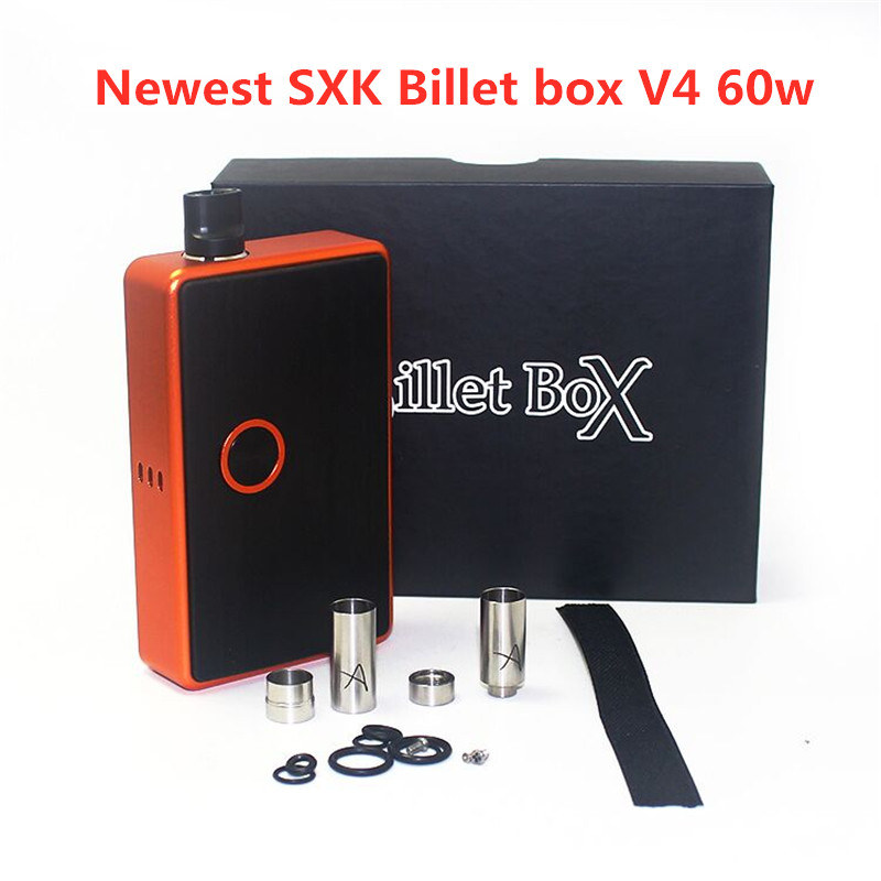 New Arrival SXK Billet Box V4 60w Electronic Cigarette 60W Box Mod With USB Port Rev.4 Device 510 Thread Vape Kit High Quality