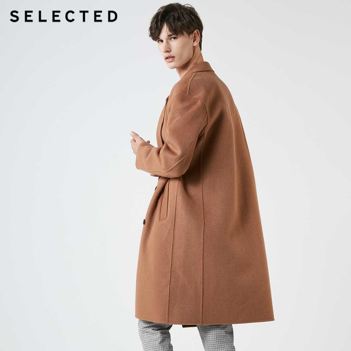נבחר רטרו גברים חורף סתיו כפול Breaste אמצע ארוך צמר מעיל מעיל | 418427569